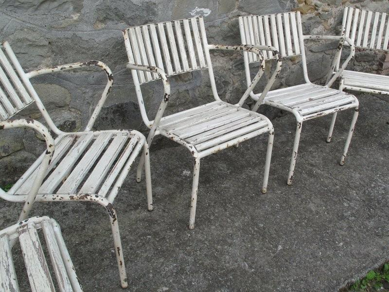 EIGHT GARDEN ARMCHAIRS