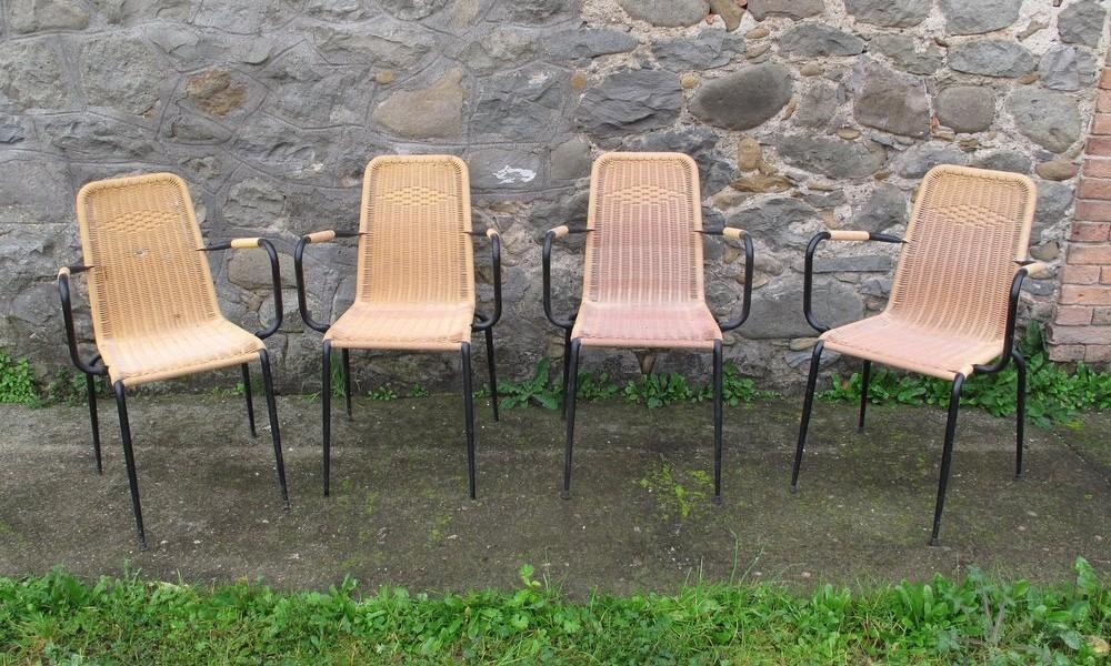 Rovistando modernariato 20th century design sedie bar for Sedie gialle