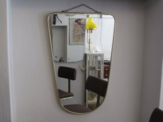 SHIELD MIRROR 1950S