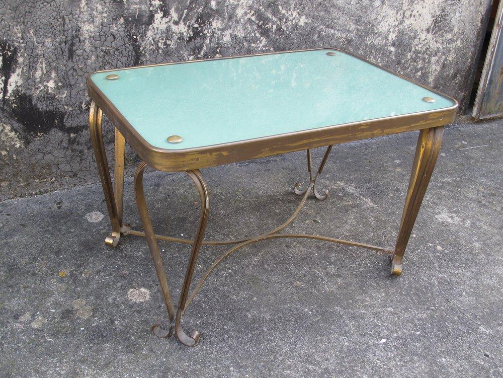 tavolino da salotto in ottone