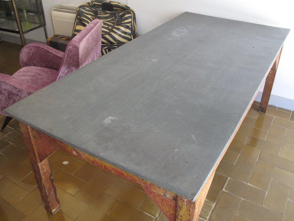 tavolo piano in zinco