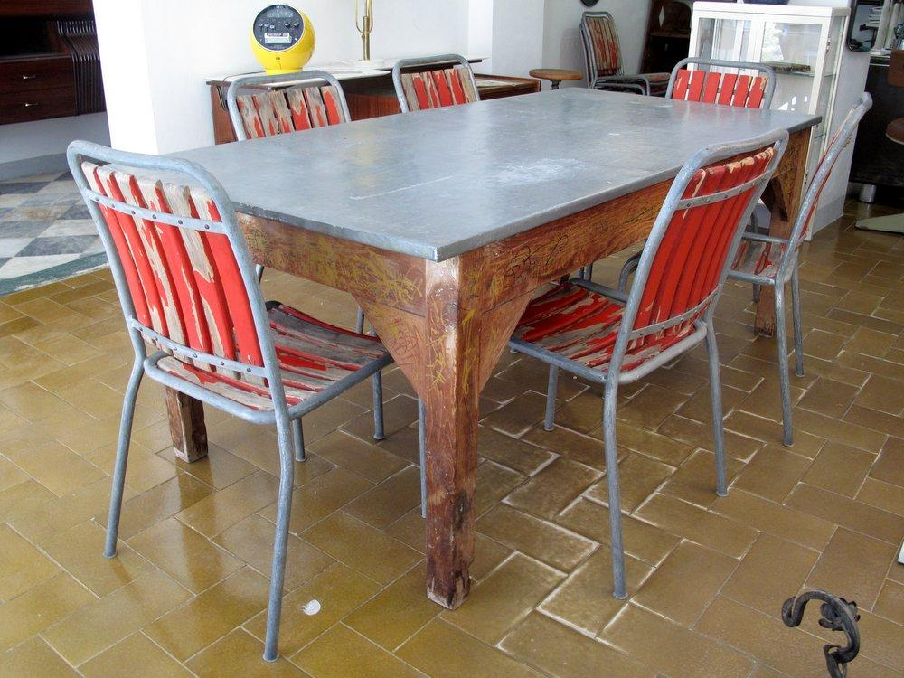 Tavoli Da Lavoro Vecchi : Rovistando u2013 modernariato 20th century design vecchio tavolo da