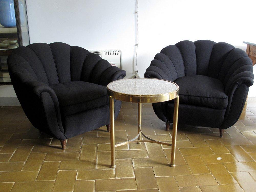 tavolino da salotto in ottone e granito
