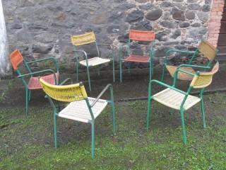SIX BAR ARMCHAIRS 1950s