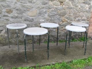 BAR TABLES LOT FIBERGLASS