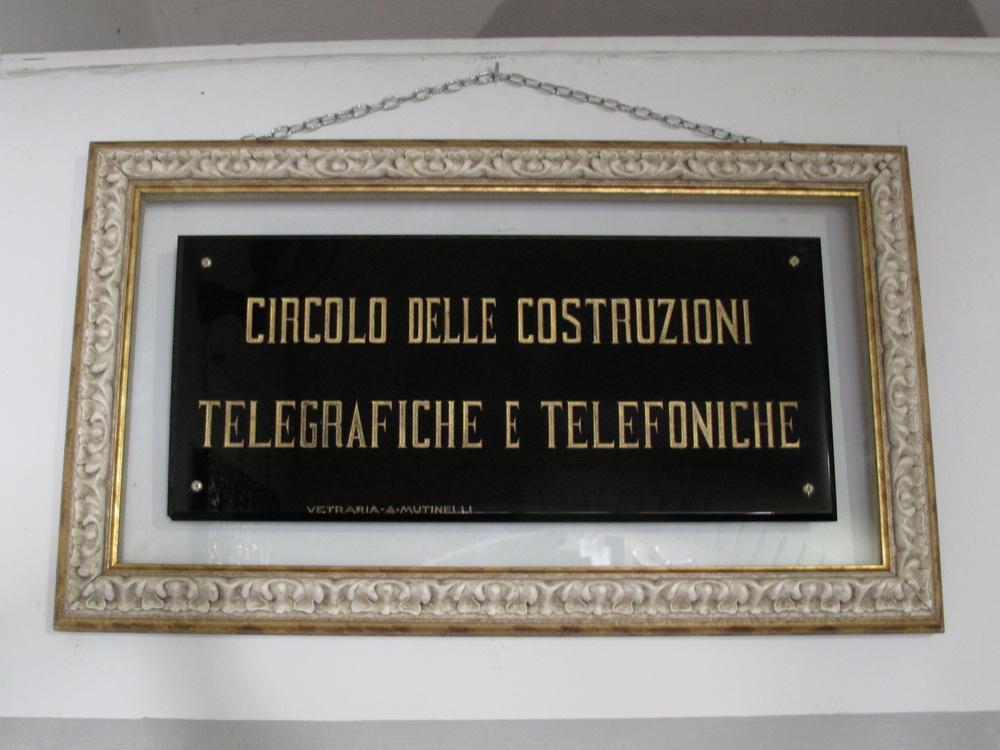 CIRCOLO COSTRUZIONI TELEGRAFICHE TELEFONICHE