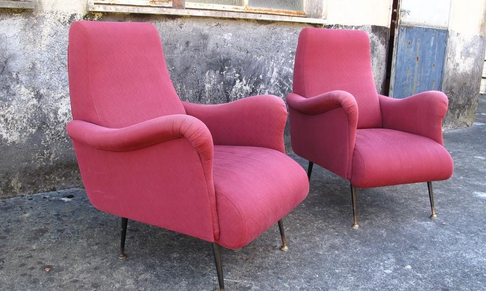 PAIR OF ARMCHAIRS 1950s