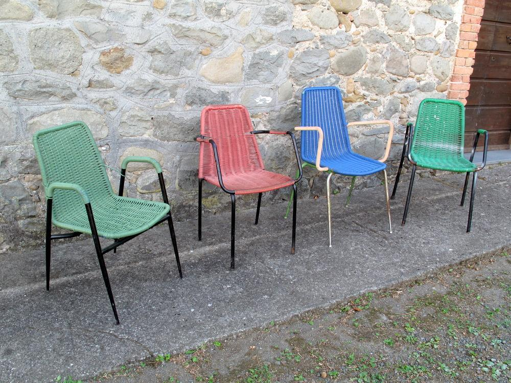 sedie bar in plastica anni 60