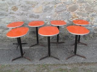 OVAL BAR TABLES LOT