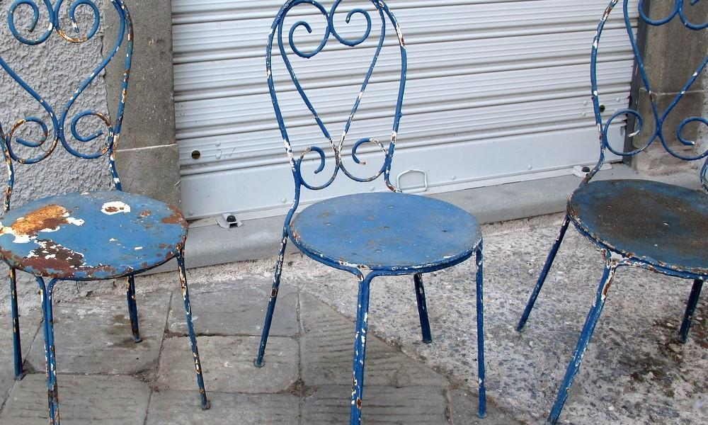 ANTIQUE GARDEN CHAIRS