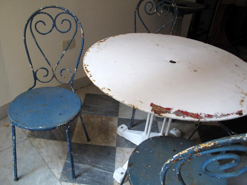 sedie giardino antiche