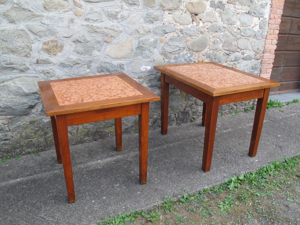 Rovistando – Modernariato, 20th Century Design vecchi tavoli osteria piano in marmo