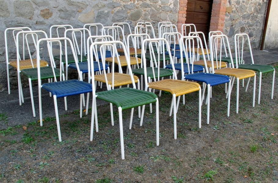 TWENTY-SEVEN BAR CHAIRS