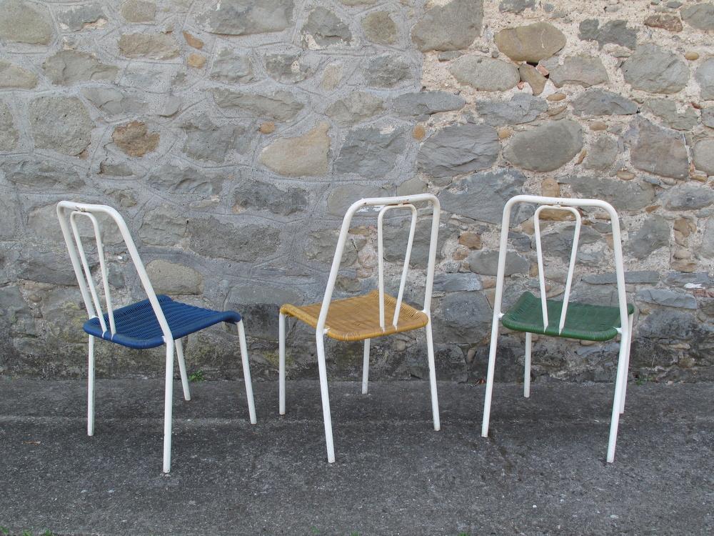 lotto 23 sedie bar in plastica anni 60