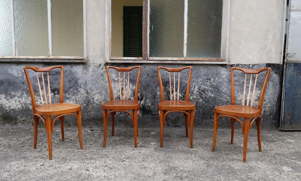 FOUR BISTRO CHAIRS