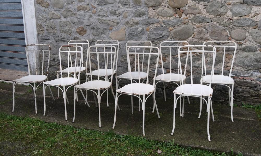 IRON CHAIRS LOT