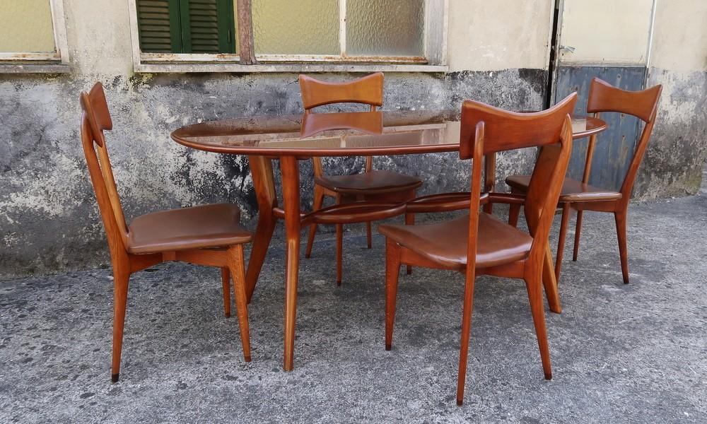 ICO PARISI TABLE AND CHAIRS