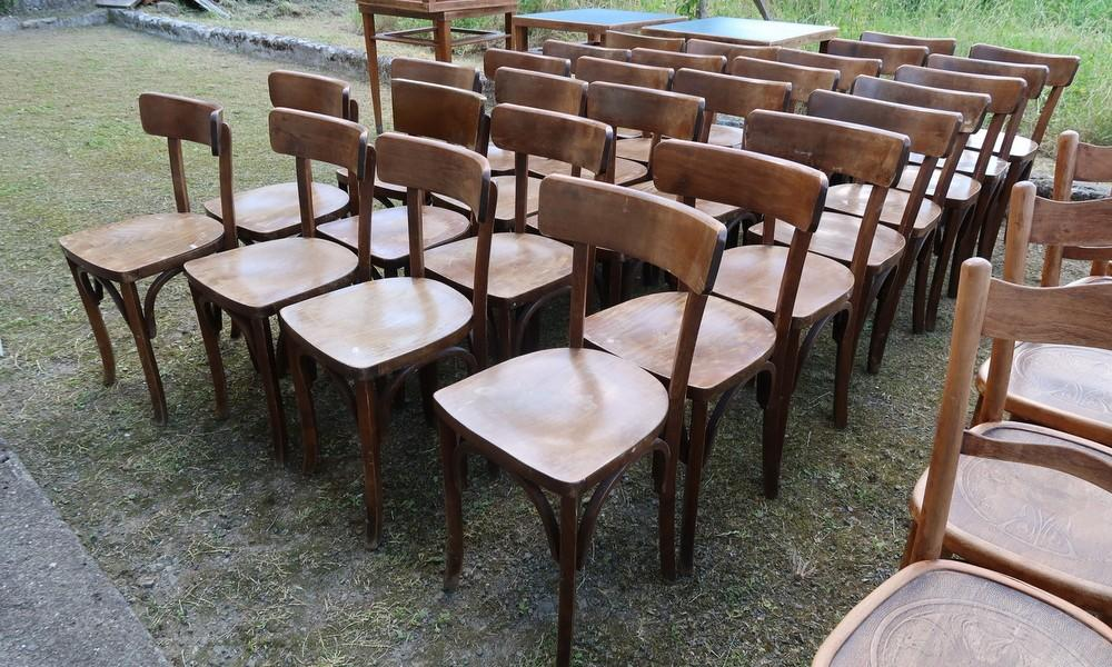LOT OF 24 BISTRO CHAIRS