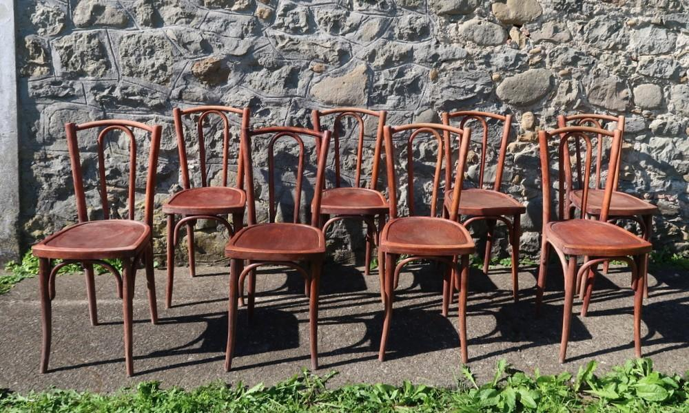 8 BISTRO CHAIRS