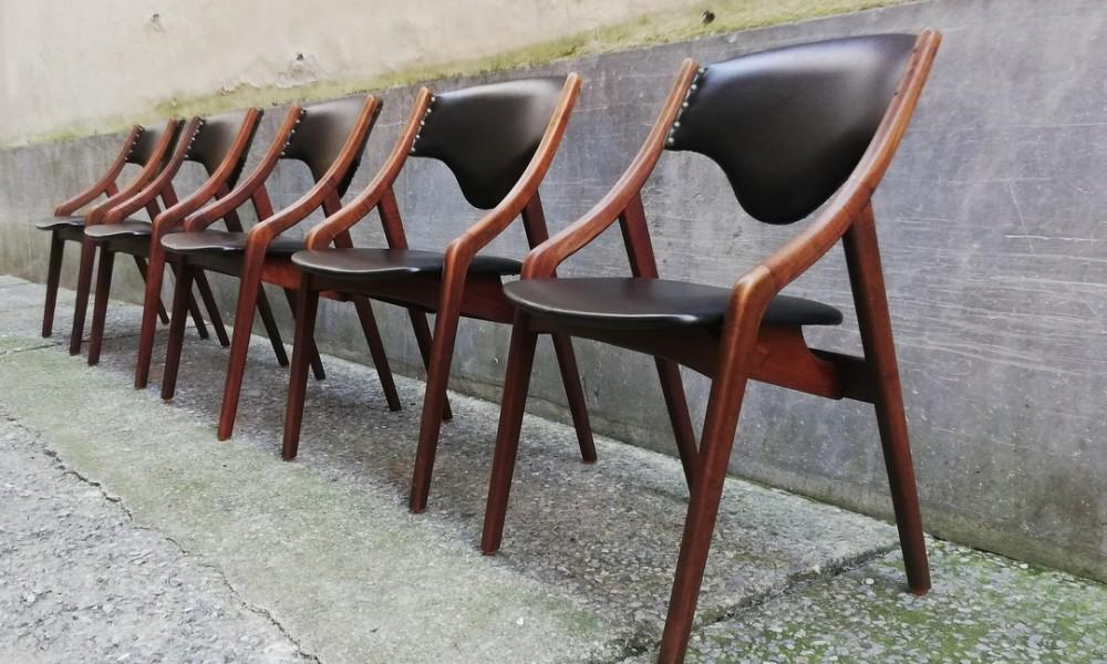 5 DANISH CHAIRS