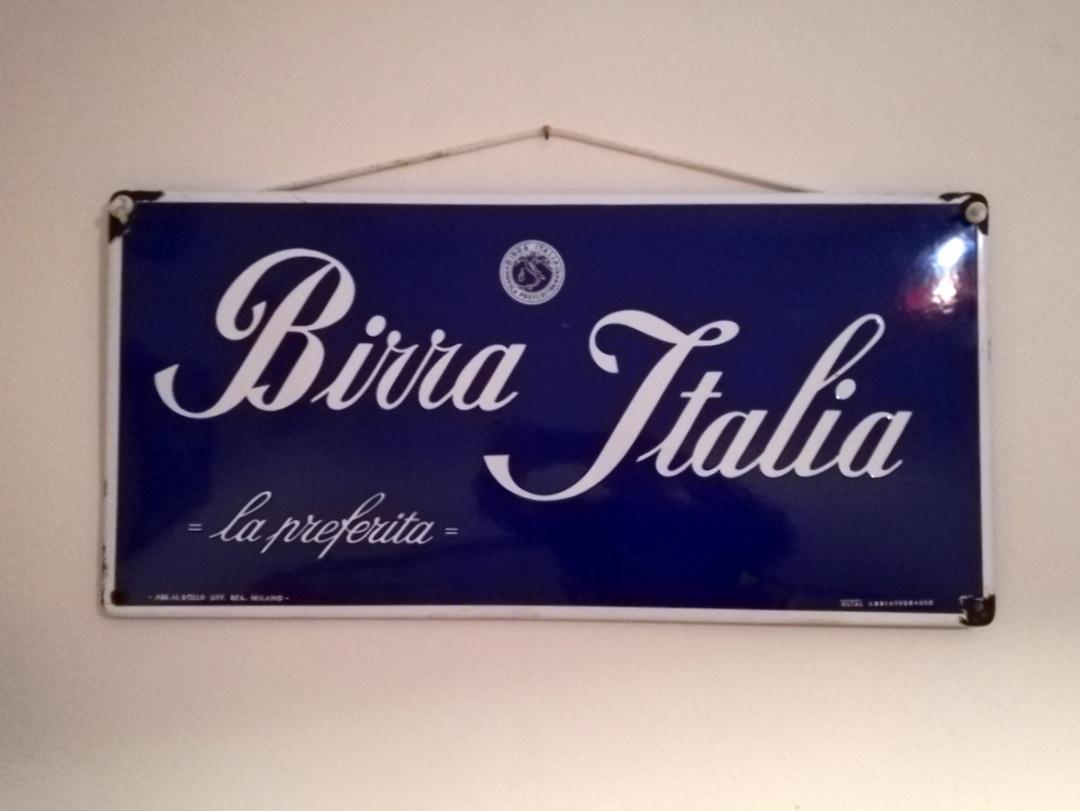 insegna smaltata Birra Italia