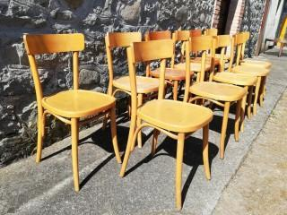 11 S.P. & C. BISTRO CHAIRS