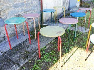 COLORED BAR TABLES LOT