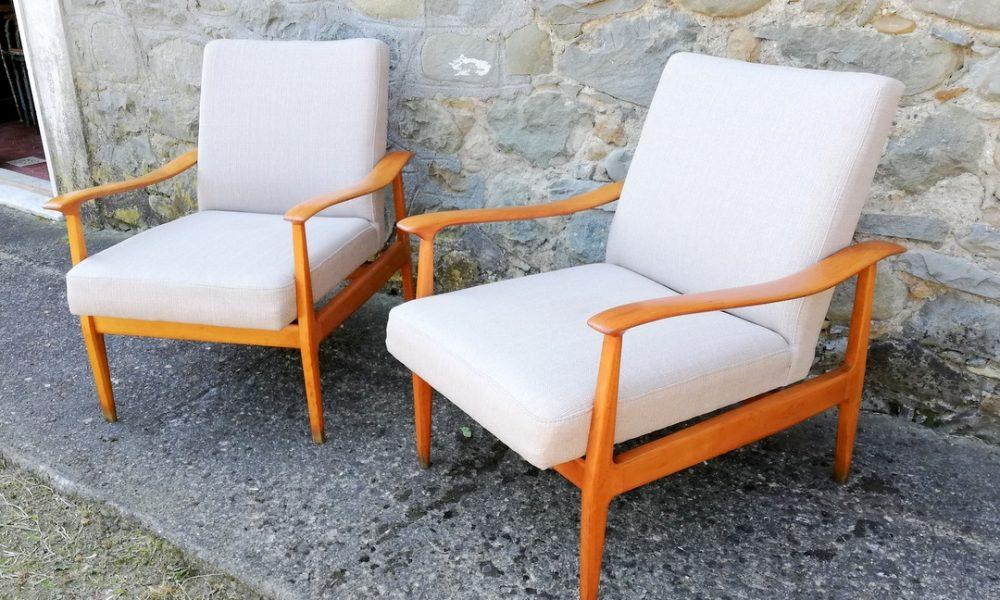TWO LOUNGE CHAIRS 1950s