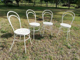 FOUR GARDEN CHAIRS
