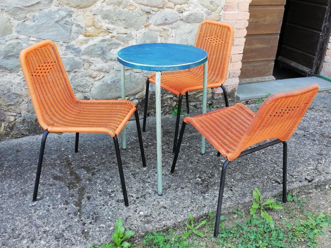 lotto 62 sedie bar in plastica anni 60