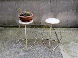 MARBLE-TOP PLANT STANDS