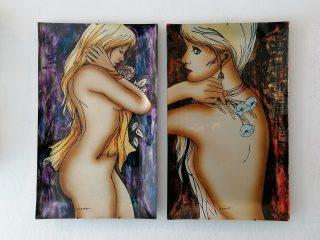 CESART PAINTINGS ON GLASS